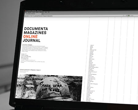 Documenta Magazines Online Journal, Webdesign, Print On Demand Tool